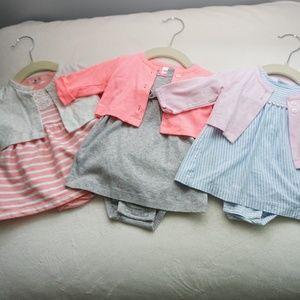 Bundle of 3 Baby Girl Dresses